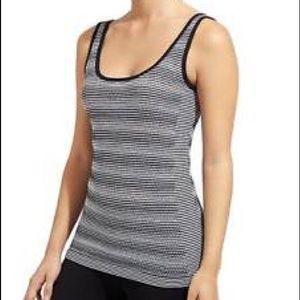 Athleta Stripe Seamless Eyelet Knit Tank Top XL